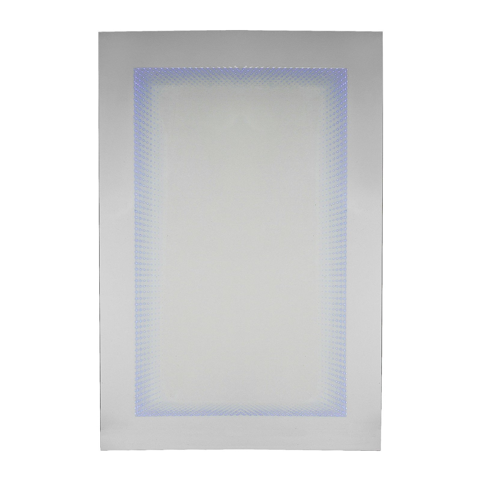 Miroir tube 120x80cm led bleu kare design for Miroir led 50