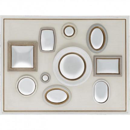 Miroir Collage Frame blanc 130x170cm Kare Design
