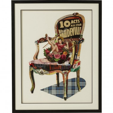 Tableau Frame Art Chair Pin Up 90x72cm Kare Design