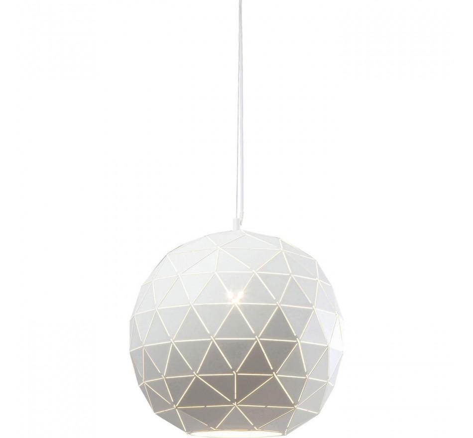 Suspension Triangle blanc 40cm Kare Design