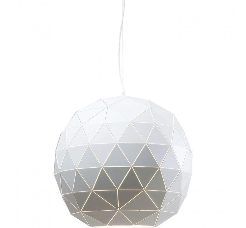 Suspension Triangle blanc 60cm Kare Design