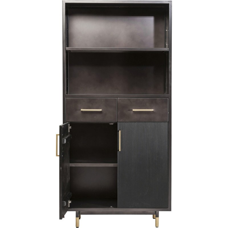tag re l gante marron nero 2 portes kare design. Black Bedroom Furniture Sets. Home Design Ideas