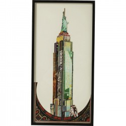 Tableau Frame Art Empire State Buidling 100x50cm Kare Design