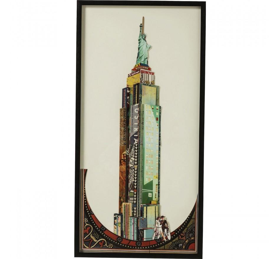 Tableau Frame Art Empire State Buidling 100x50cm Kare Design