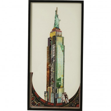 Tableau Frame Art Empire State Building 100x50cm Kare Design