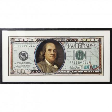Tableau Frame Art Dollars 50x100cm Kare Design