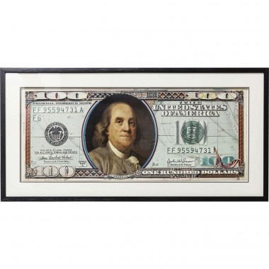 Tableau Frame Art Dollars 50x100cm Kare Design
