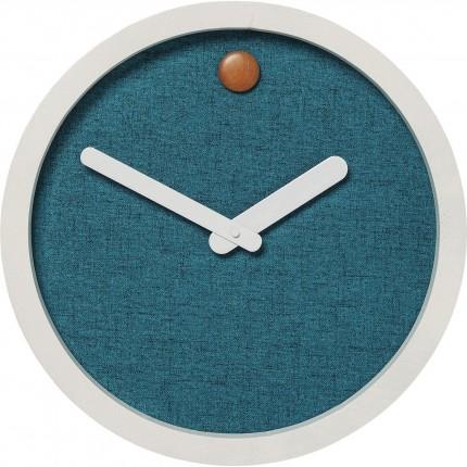 Horloge murale Miami bleu 44cm Kare Design