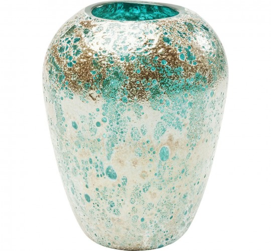 Vase Moonscape turquoise 22cm Kare Design