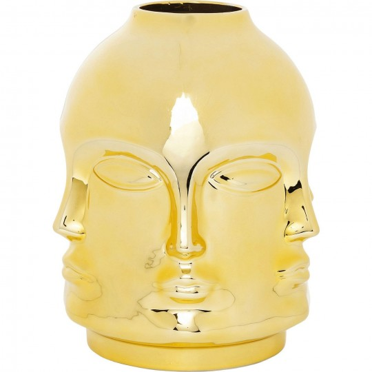 Vase Faces doré Kare Design