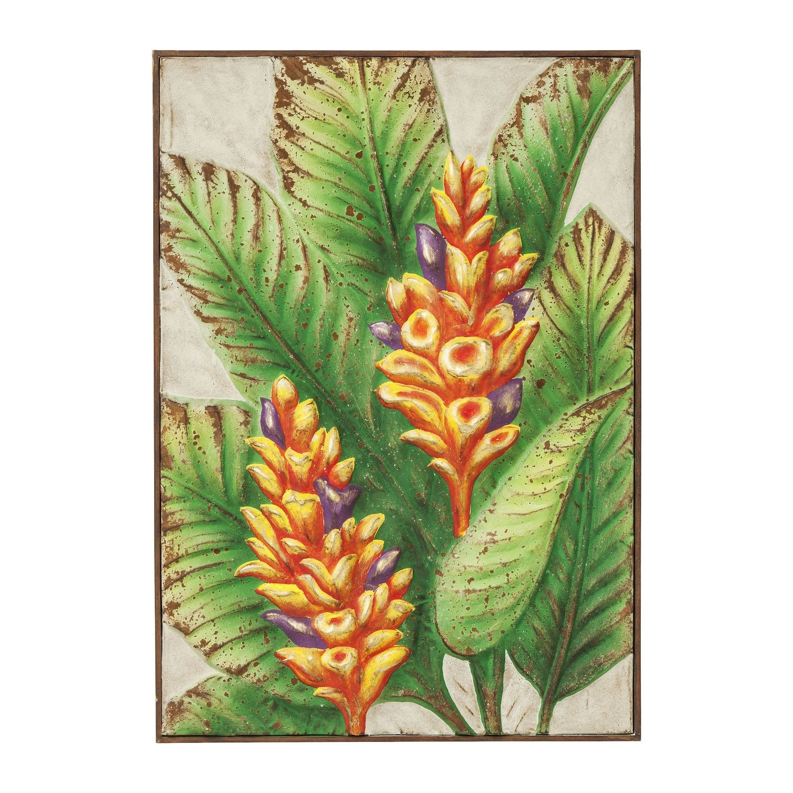 Tableau jungle flower kare design for Decoration murale jungle