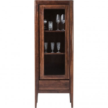 Vitrine Brooklyn walnut 1 porte Kare Design