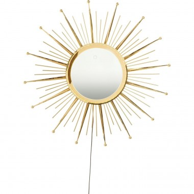 Miroir Sunburst LED 90cm Kare Design