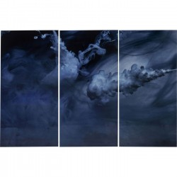Tableaux en verre Triptychon Clouds 160x240cm set de 3 Kare Design