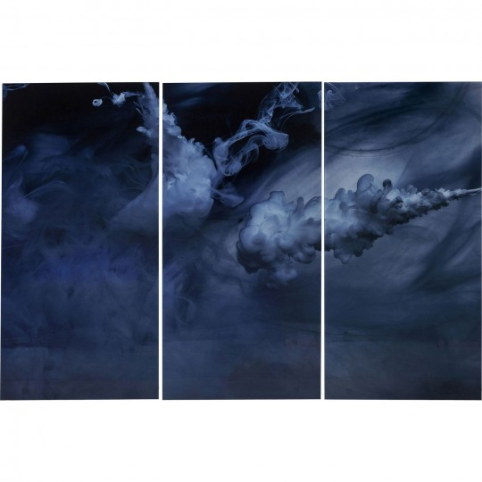 Tableau en verre Triptychon Clouds 160x240cm 3/set Kare Design