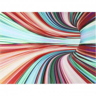 Tableau en verre Colorful Intoxication 120x160cm Kare Design