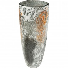 Vase Moonscape orange 37cm Kare Design