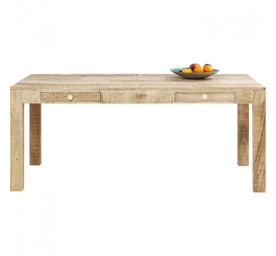 Table Puro 2 tiroirs 180x90cm Kare Design