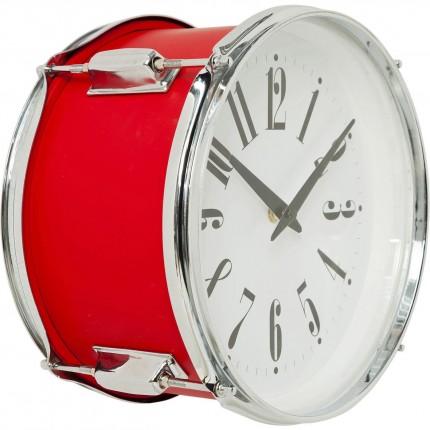 Horloge murale Drum rouge 28cm Kare Design