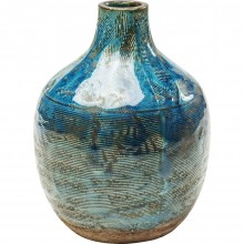 Vase Dynamic Belly bleu 19cm Kare Design