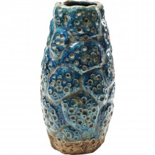 Vase Dynamic Craters bleu 20cm Kare Design