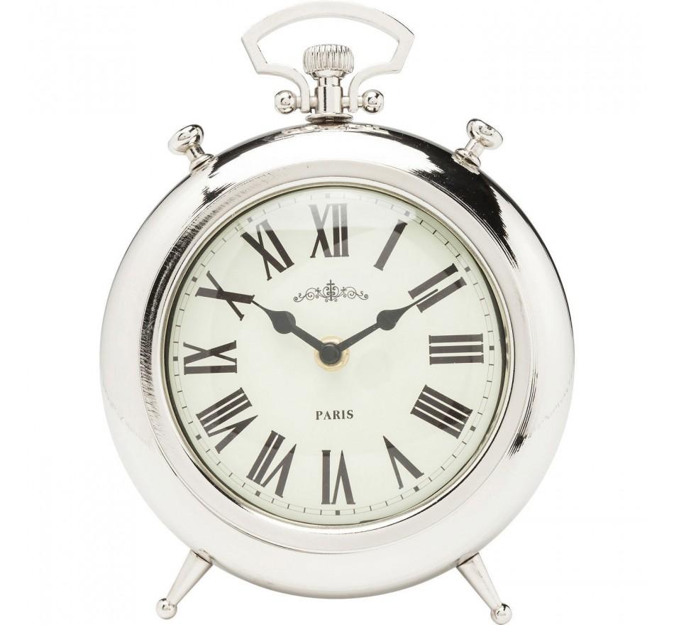 Horloge à poser Pocket rond argentée Kare Design