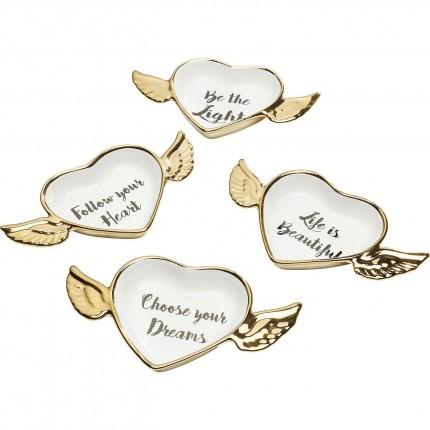 Coupes Flying Heart set de 4 Kare Design