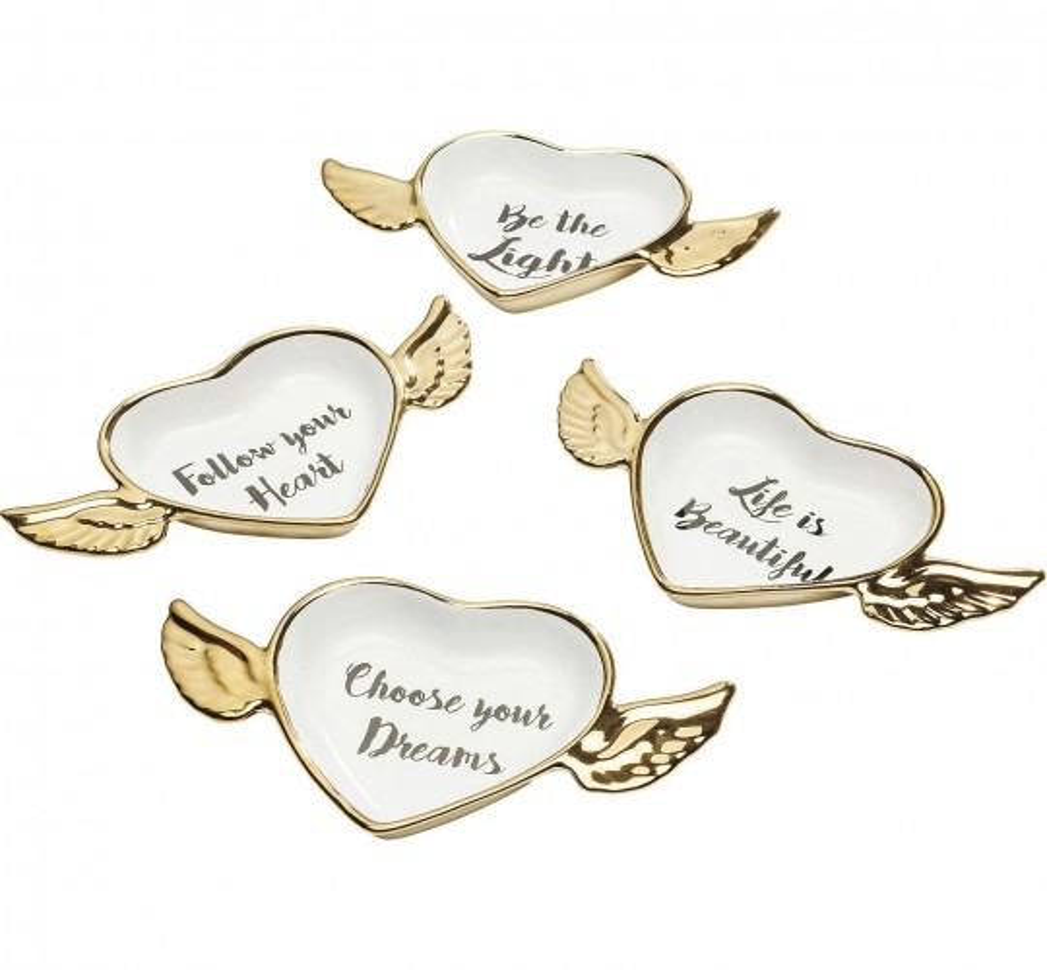 Ensemble de 4 Coupes Flying Heart Kare Design