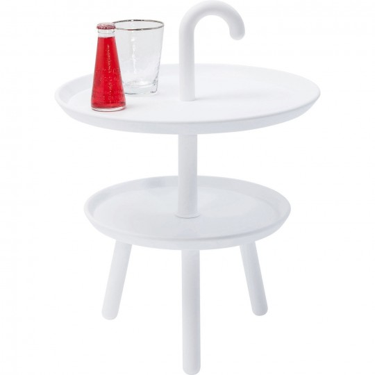 Table d'appoint Jacky blanche 42cm Kare Design