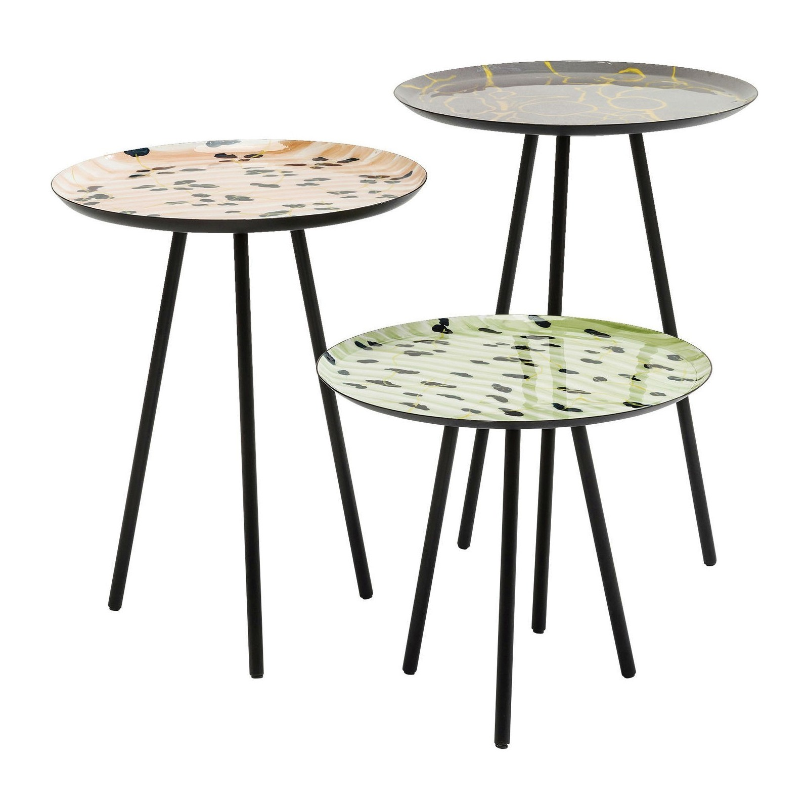 Tables d 39 appoint tifi set de 3 kare design - Tables d appoint design ...