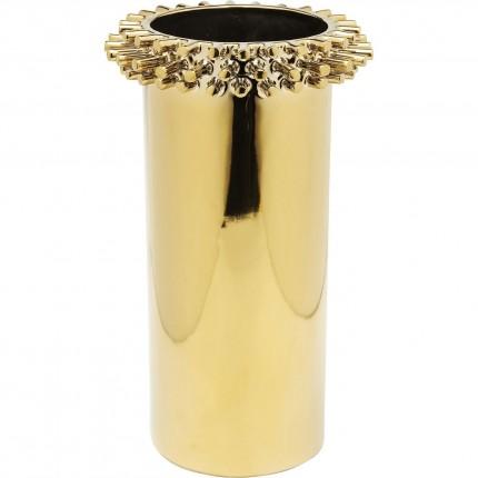 Vase Rivets Ring doré 31cm Kare Design