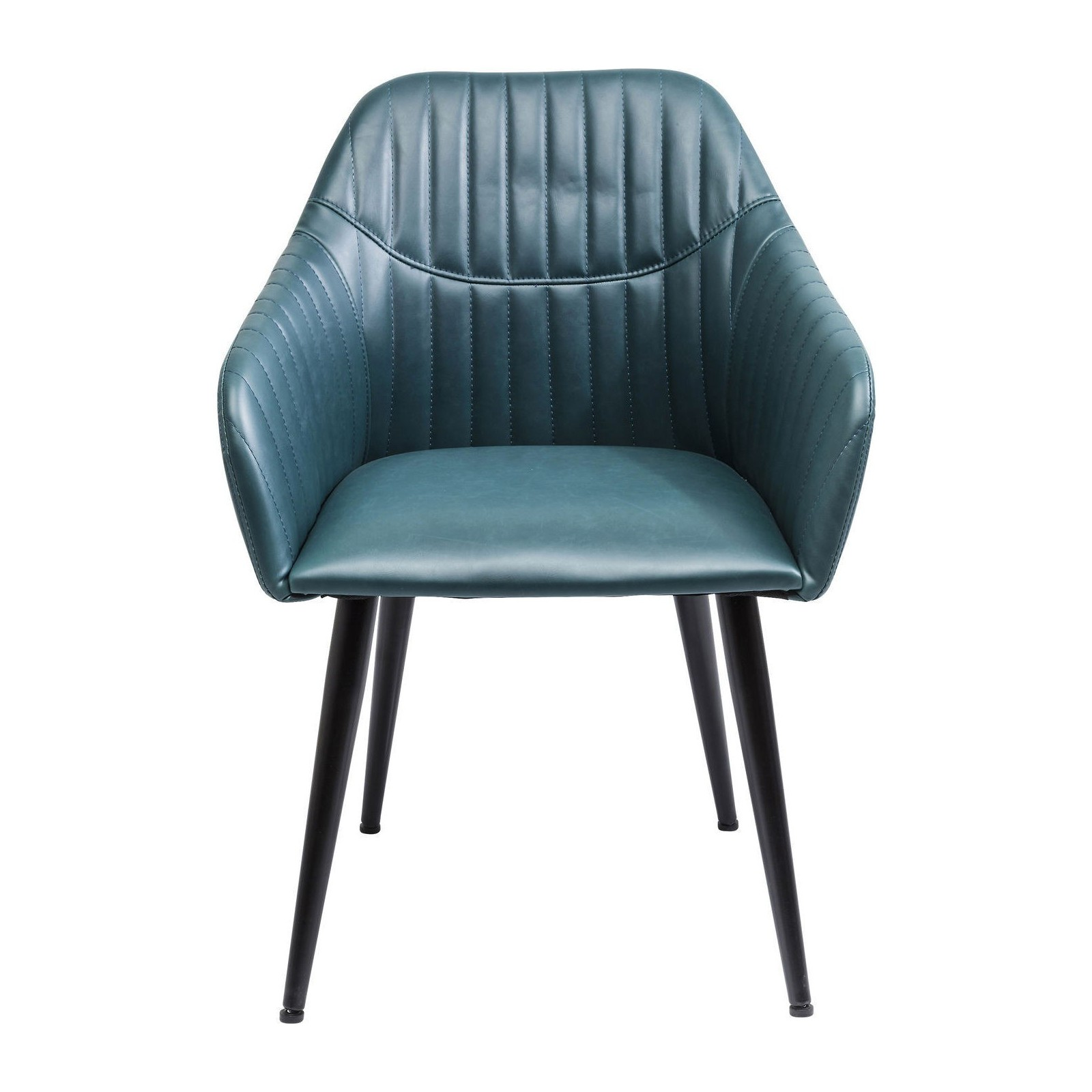 Chaise avec accoudoirs vintage bleue sally kare design for Chaise kare design