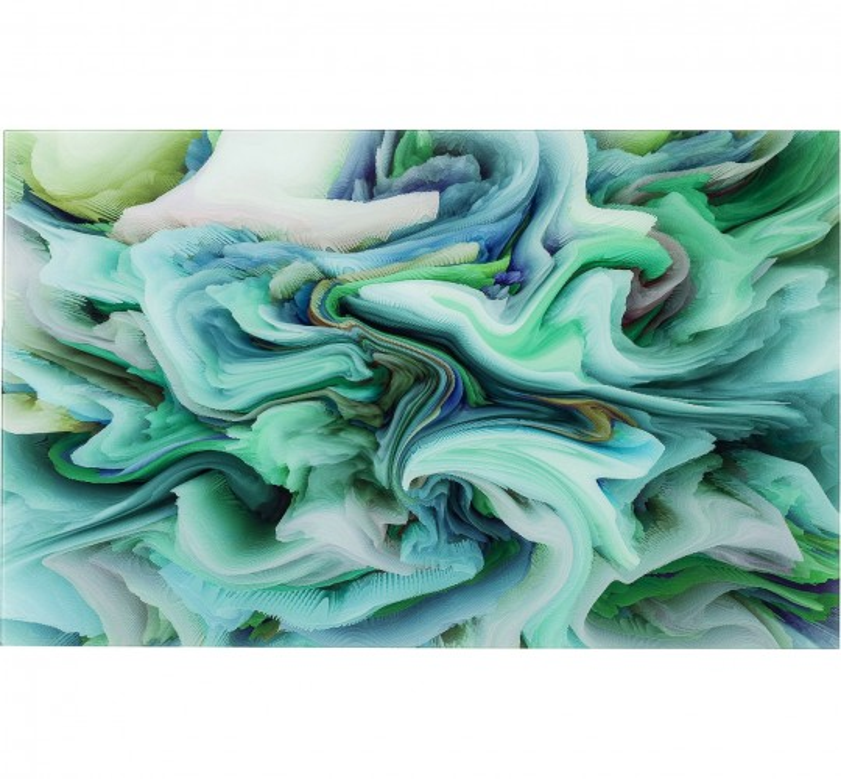 Tableau en verre Storm vert 80x120cm Kare Design