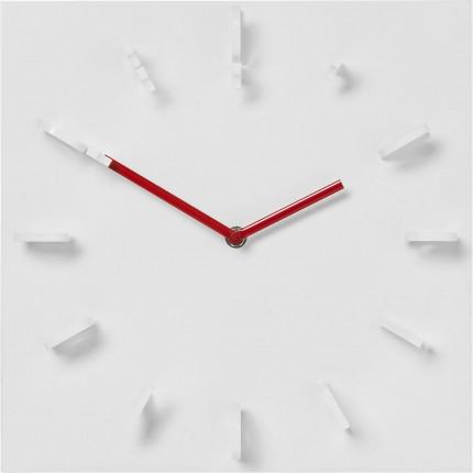 Horloge murale fila blanche kare design for Horloge blanche design