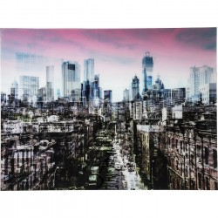 Tableau en verre New York Skyline 160x120cm Kare Design