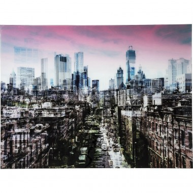 Tableau en verre New York Skyline 120x160cm Kare Design