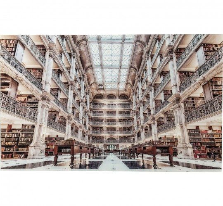 Tableau en verre Library 100x150cm Kare Design