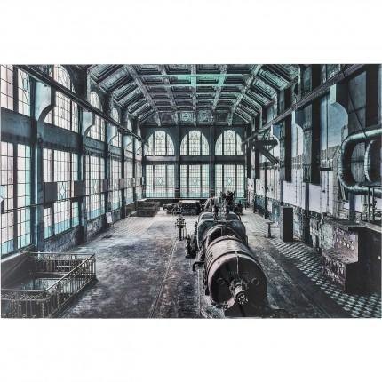 Tableau en verre Factory Hall 100x150cm Kare Design