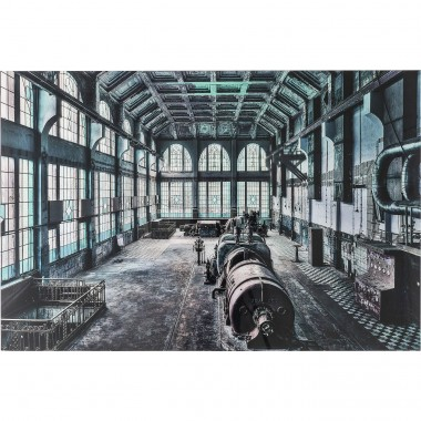 Tableau en verre Factory Hall 100x150cm Kare Design