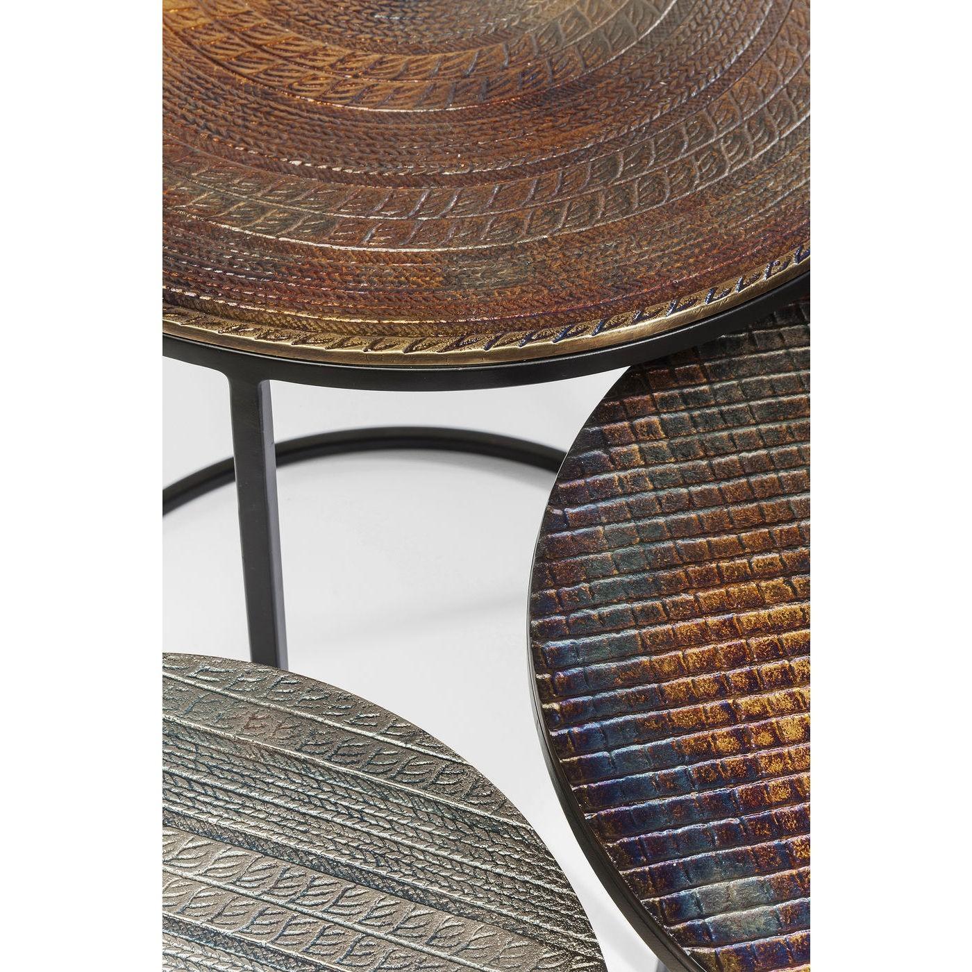 Tables d'appoint Electra set de 3 Kare Design