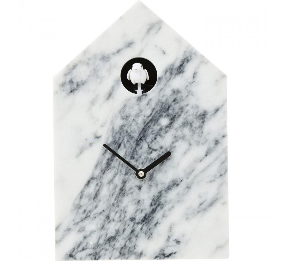 Horloge murale Cuckoo Marble Kare Design
