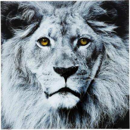 Tableau en verre Face Lion 80x80cm Kare Desgin