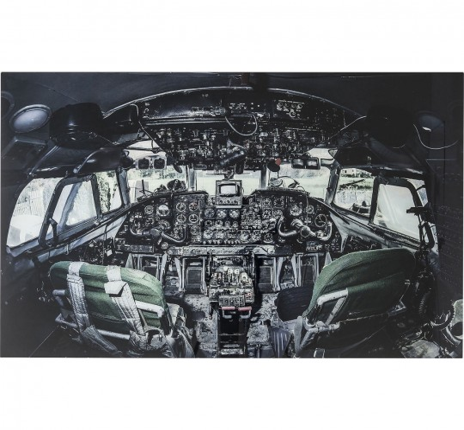Tableau en verre Cockpit View 100x150cm Kare Design