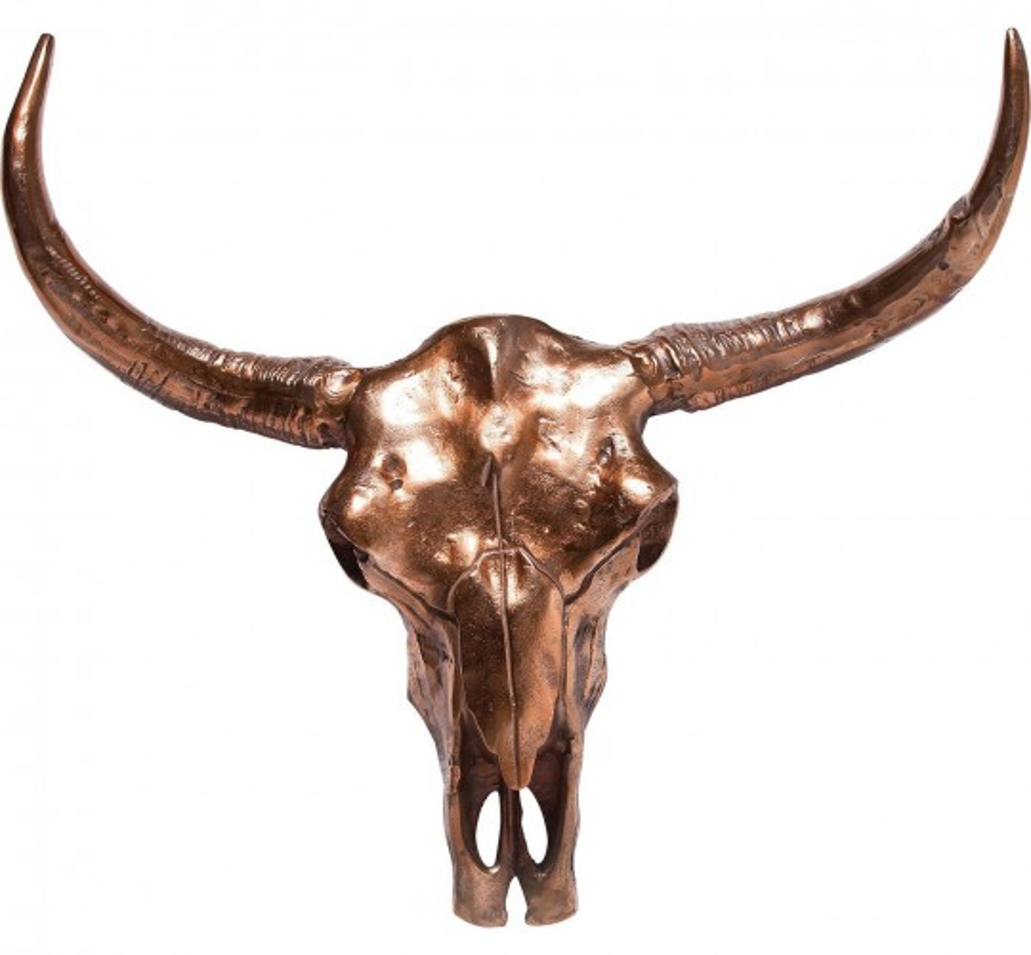 Tête décorative Skull cuivrée GM Kare Design