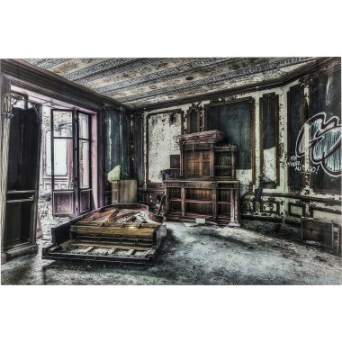 Tableau en verre Vintage Piano Room 100x150cm Kare Design