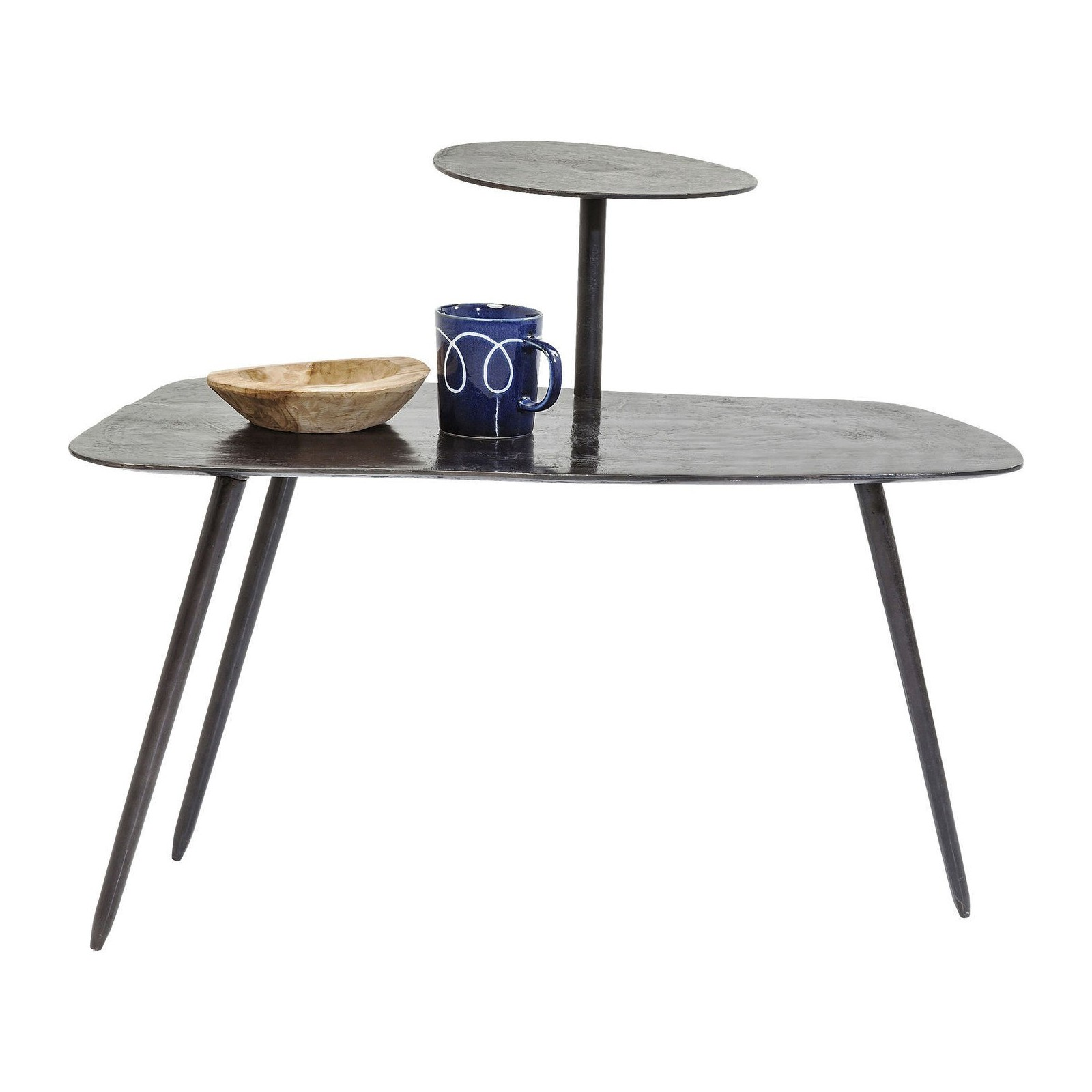 Table basse industrielle noire tower kare design for Table basse noire design