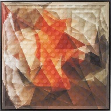 Tableau 3D Abstract orange 80x80cm Kare Design
