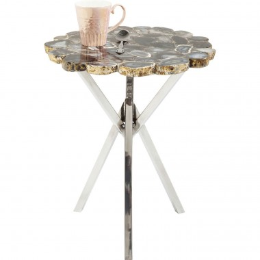 Table d'appoint Treasury grise 40cm Kare Design