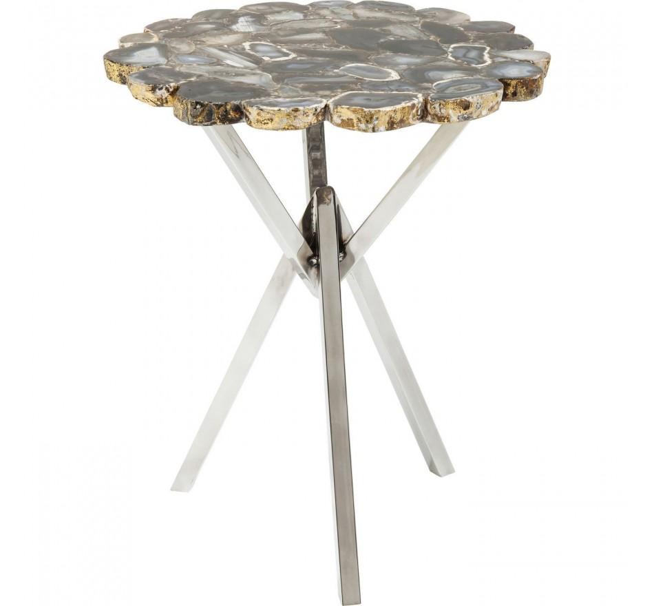 Table d'appoint Treasury gris 40cm Kare Design