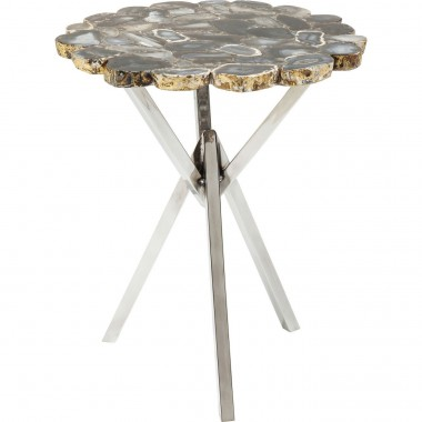 Table d'appoint Treasury gris 40cm Kare Design